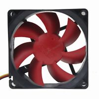 2pcs Quiet Hydraulic 80mm Red Wing 12V 3Pin DC PC Computer Cooler Cooling Fan
