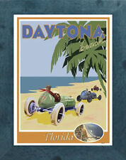 Daytona Beach, FL (Framed) Art Deco Style Travel Poster -by Aurelio Grisanty