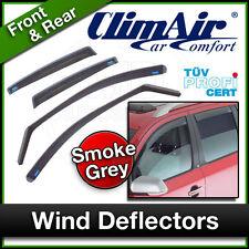 CLIMAIR Car Wind Deflectors AUDI A4 Rubber 2007 to 2015 Front & Rear SET