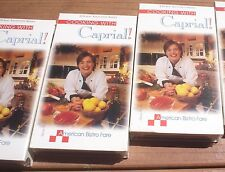 NEW Factory Sealed Lot of 11 Different Cooking with Caprial VHS