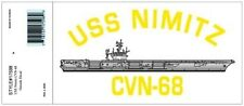 NAVY USS NIMITZ CVN-68  MILITARY WAR SHIP DECAL