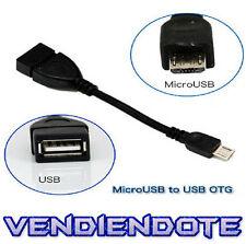 Cable Adaptador Host Otg USB Hembra A Micro USB Conecta PenDrive Al Movil Tablet