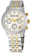 Michael Kors Women's Pearl Dial Two-Tone Stainless Steel Bracelet Watch MK5057