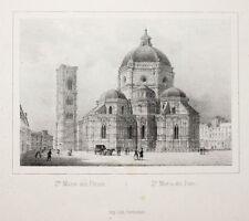 C1840 Firenze Firenze Santa Maria dei Fiore Duomo litografia-vista Arnout