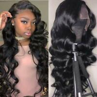 13X6 Lace Front Human Hair Wigs Virgin Brazilian Body Wave Pre Plucked Lace Wigs