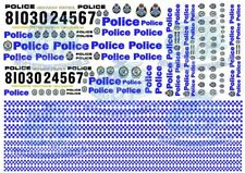 Australian Police Decals - NSW & VIC Police Livery in all popular model scales