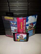 Somari The Adventurer  in Sonic 1! Video Game for Sega Genesis! Cart & Box