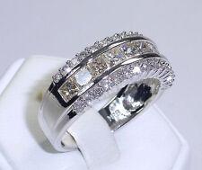 Echter Ringe im Band-Stil aus Weißgold mit Diamant für Damen