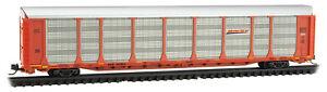 Micro-Trains MTL N-Scale 89ft Tri-Level Auto Rack Car Carrier BNSF/Wedge #300863