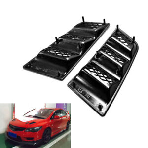 2PCS Universal RR Type Car SUV Hood Vents Scoop Bonnet Air Vents Flow Vent Duct