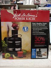 Jack Lalanne Power Juicer Black Model MT1000 in Box 3600 RPM S7