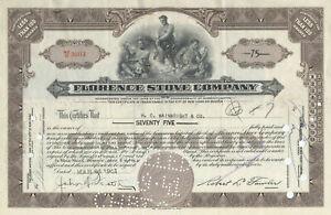 Florence Stove Company Stock Certificate (Massachusetts)