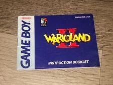Wario Land II 2 Instruction Manual Booklet Nintendo Game Boy Authentic