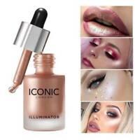 Liquid Concealer Highlighter Makeup Shimmer Face Illuminator Oil Glow  3 Colors