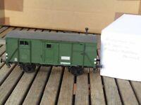 Besenhart EMB SPUR 0 Bauzug-Geräte-Werkstattwagen G 10 grün der DB Ep.3 sehr gut