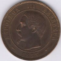 1853 A France Napoleon III 10 Centimes | European Coins | Pennies2Pounds