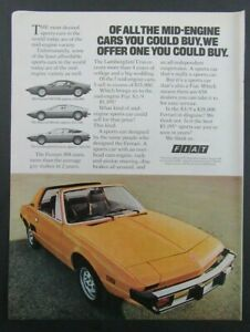 1977 FIAT XI/9 Mid-Engine Sports Car Full color Magazine Ad