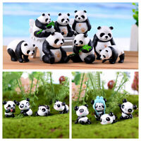 Home Decor DIY Craft Resin Ornaments Miniature Model Micro Panda Figurine
