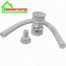 WATER BUTT DIVERTER FOR 50MM ROUND DOWNPIPE WHITE- FLOPLAST MINIFLO RANGE