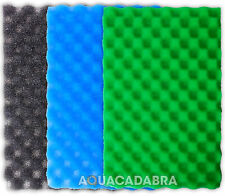 "25"" X 18"" FISH POND FILTER FOAM SET 3 FINE MEDIUM COARSE SPONGE 24 X 17 GARDEN"