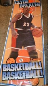 "HUGE CLYDE DREXLER POSTER 75"" X ""26 LITTLE CAESARS 1996 SEALED **BRAND NEW**"