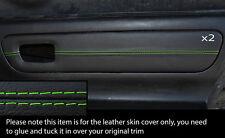 Verde Stitch 2x Puerta Tarjeta Ribete Cuero Skin cubre encaja Toyota Mr2 Mk3 2000-2007