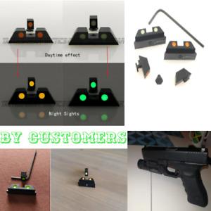 Aim For Guns Glow In The Dark Green Glock Night Sights 17,17L,19,22,23,24,25,26