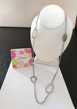 "Premier Designs Jewelry ZEBRA 36""-40"" Antique Matte Silver Plated Necklace NIB"