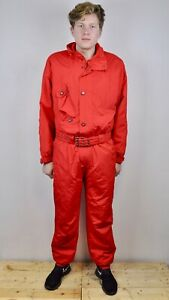GORE TEX vtg UK 42 Ski Coverall Overall Red Snowsuit Jumpsuit Suit 52 Skisuit L