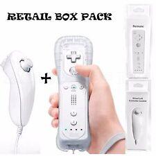 Blanco Control Remoto + Sillicon + Correa + Nunchuck Para Nintendo Wii U