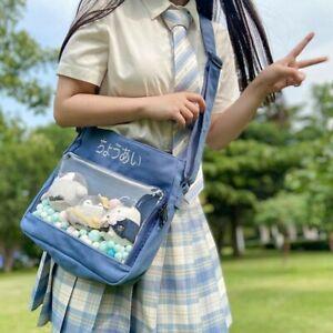 Japanese Itabag Transparent Shoulder Bag Messenger Bag Crossbody for Badge Show