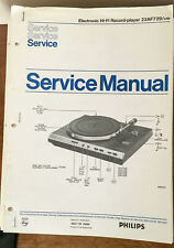 Philips 22AF729 /44 Record Player / Turntable  Service Manual *Original*