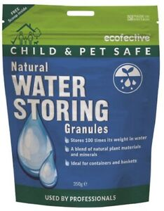 Ecofective Water Storing Granules - Ideal for Hanging baskets tubs pots