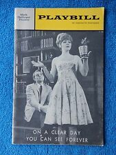 On A Clear Day You Can See Forever - Mark Hellinger Playbill - March 1966