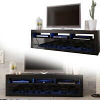 TV Board Lowboard Unterschrank Sideboard schwarz Hochglanz 160cm