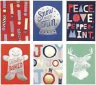 Christmas Cards Holiday Icons with 6 Cards and 6 Envelopes Hallmark Xmas Navidad