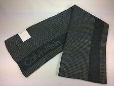 New Calvin Klein Men's Scarf Grid Logo Muffler Gray New