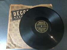 78 RPM  Andrew Sisters I Can Dream Can't I/ Wedding Of Lili Marlene Decca  G+