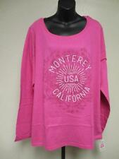 New Monterey Ca California Womens Size XL XLarge 18/20 Pink Long Sleeve Shirt