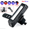 6-Modes USB Rechargeable LED COB Bicycle Bike Cycling Front Rear Tail Light Lamp