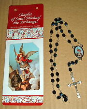 ITALIAN CHAPLET of  ST SAINT MICHAEL NEW Instructions CARD ARCHANGEL ANGEL ITALY
