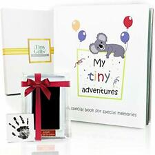First 5 Years Baby Memory Book + Clean-Touch Ink Pad Gift Box. Record Your Girl