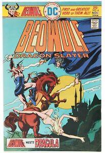 👀 1975 BEOWULF Dragon Slayer DC Comics #4 Very Fine Beowulf Meets Dracula 👀💎