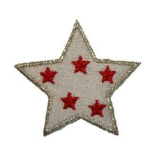 ID 3463A Patriotic Spotted Star Patch American Craft Embroidered IronOn Applique