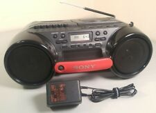 SONY CFD-980 ESP SPORTS Mega Bass CD Radio Cassette Boombox w/SONY 9V AC Adapter