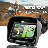 "4.3"" Motorbike Car GPS Motorcycle BT Navigation Sat NAV Navigator 8GB Maps FM"