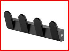Bisk Futura Black 02952 4 Hook Hanger Towel Hook, Black Satin - Bathroom