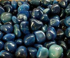 15-25 medium Dyed Blue Agate  bulk tumbled Gem stones 1/4lb