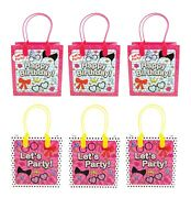 Surprise Doll Birthday Party Favor Bags Treat Bags, 6 Pack