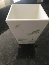 New Pottery Barn Kids Froggy Frog Bath Trash Can WasteBasket